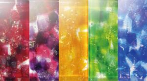 選べる色とりどりのガラス